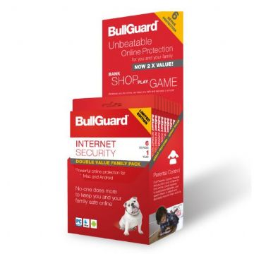 Bullguard Internet Security 2018 Retail, 6 User (10 Pack), Multi Device Licence